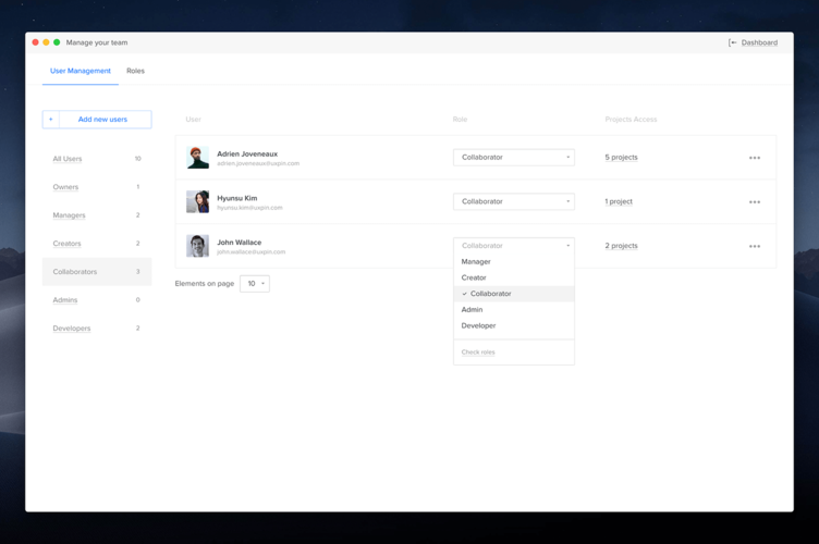UXPin - Docs | Dashboard